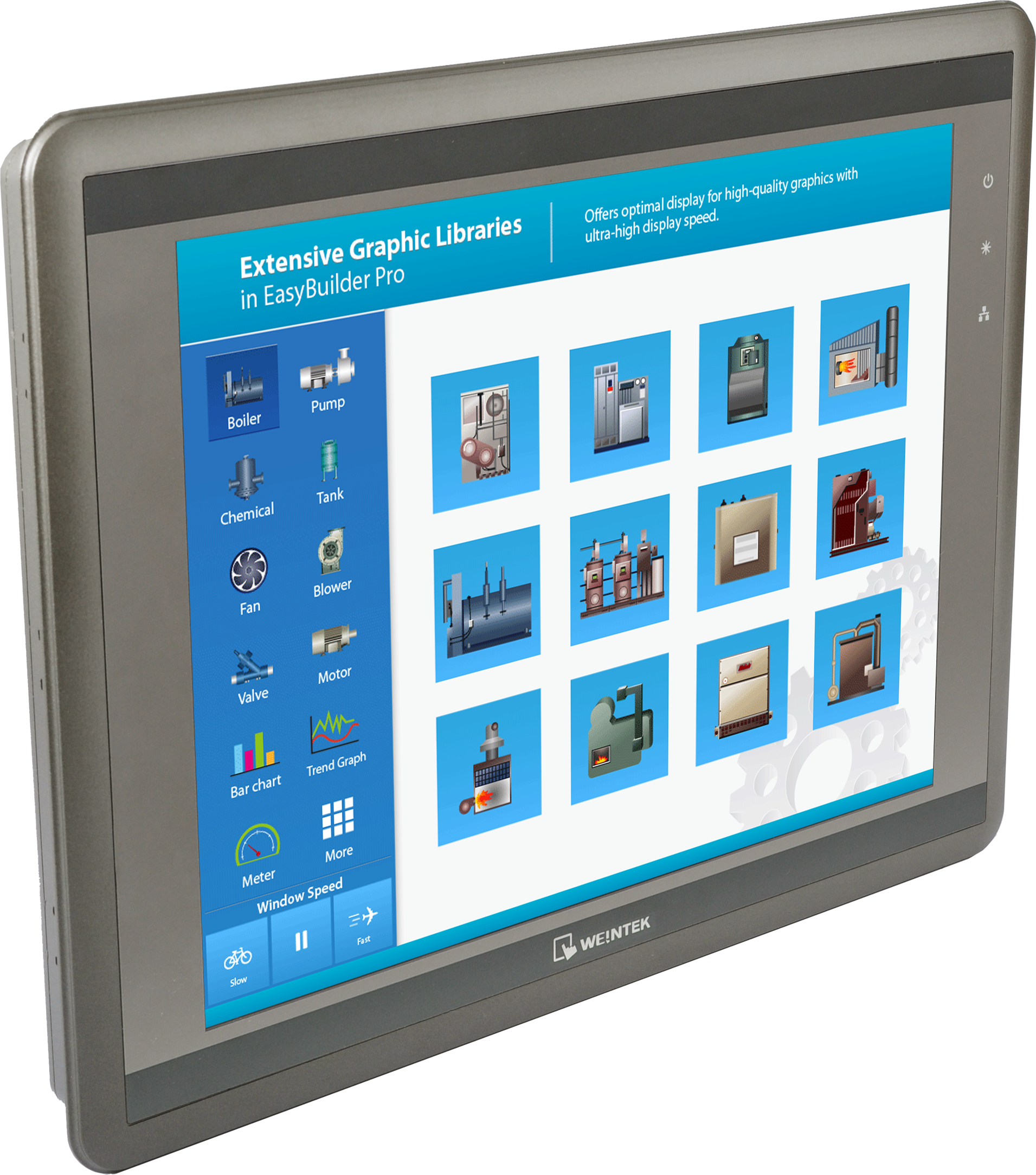 "weintek 12"" HMI HMI5121XL Rohtek KEP with VNC, VPN remote control UL certificate, aluminum housing,1 GHz CPU and Ethernet port"